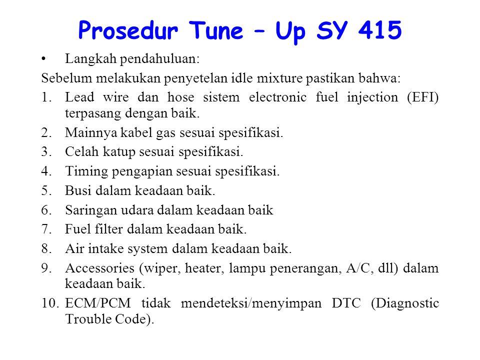 Prosedur Tune – Up SY 415 Langkah pendahuluan: