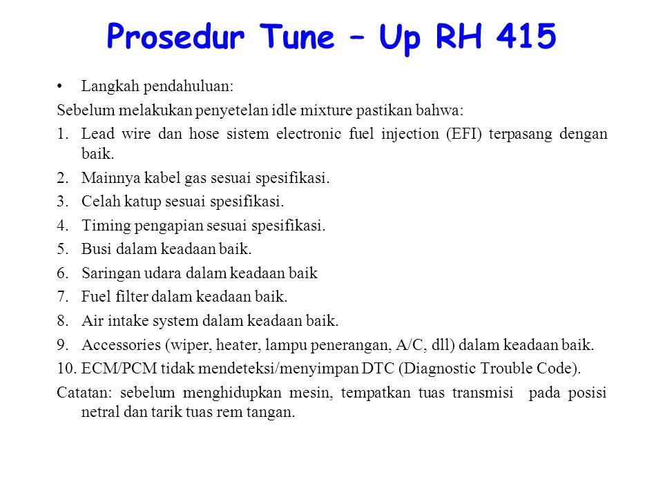 Prosedur Tune – Up RH 415 Langkah pendahuluan:
