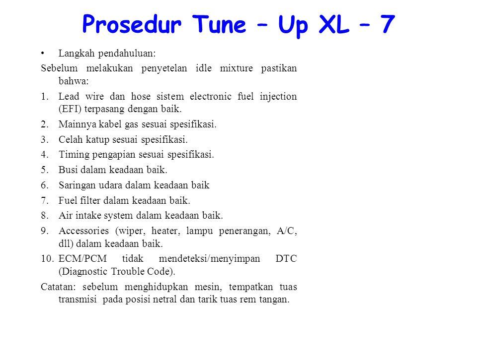 Prosedur Tune – Up XL – 7 Langkah pendahuluan: