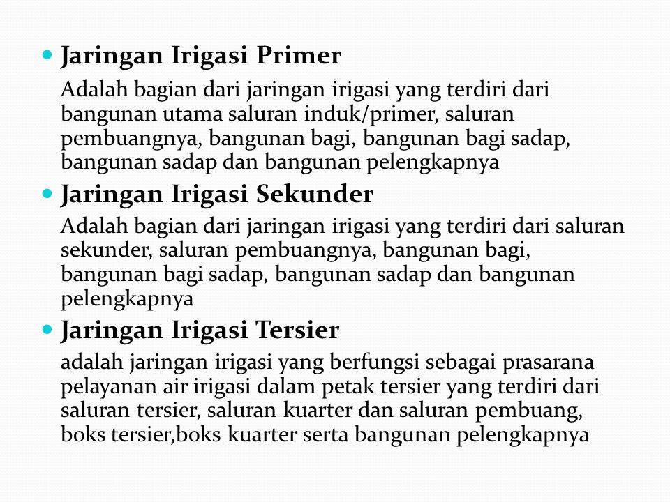 Jaringan Irigasi Primer