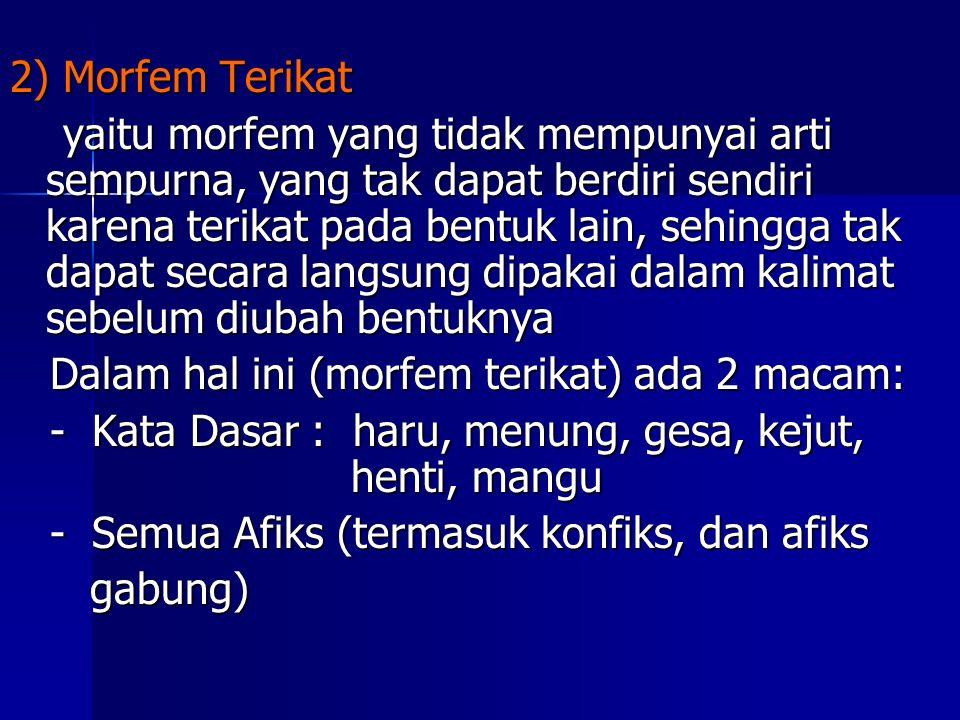 2) Morfem Terikat