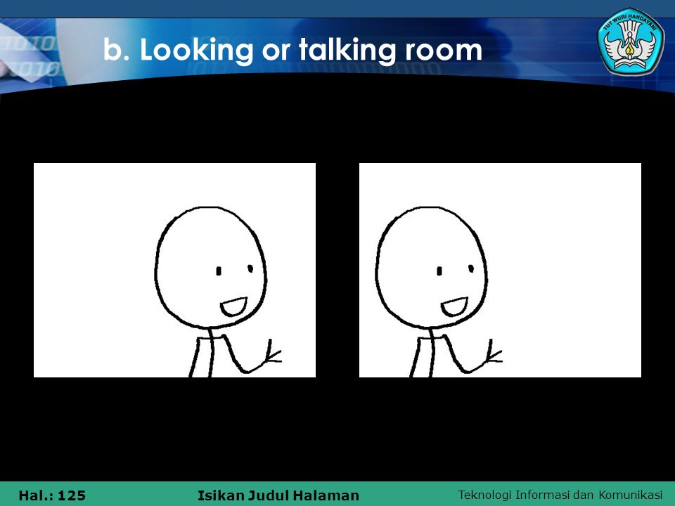 b. Looking or talking room