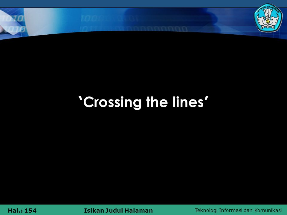 'Crossing the lines'