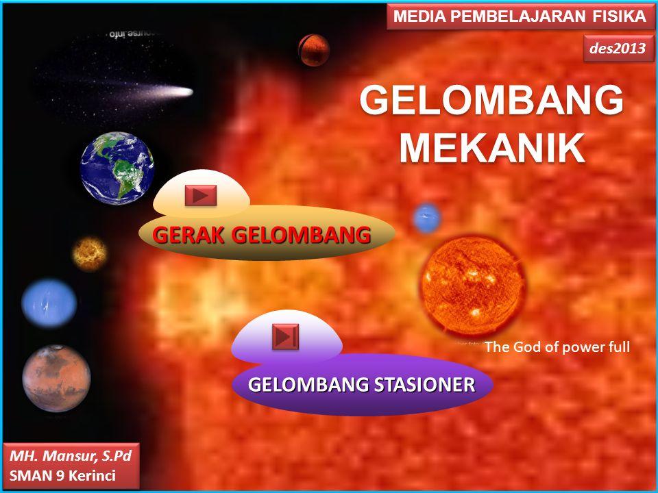 GELOMBANG MEKANIK GERAK GELOMBANG GELOMBANG STASIONER
