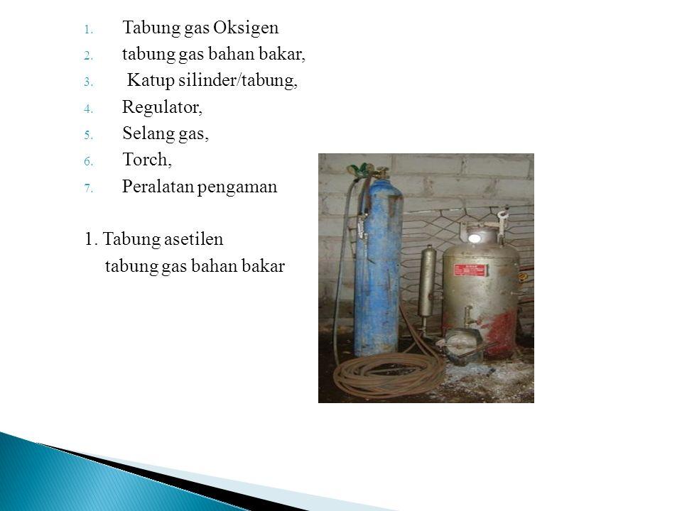 Tabung gas Oksigen tabung gas bahan bakar, Katup silinder/tabung, Regulator, Selang gas, Torch,
