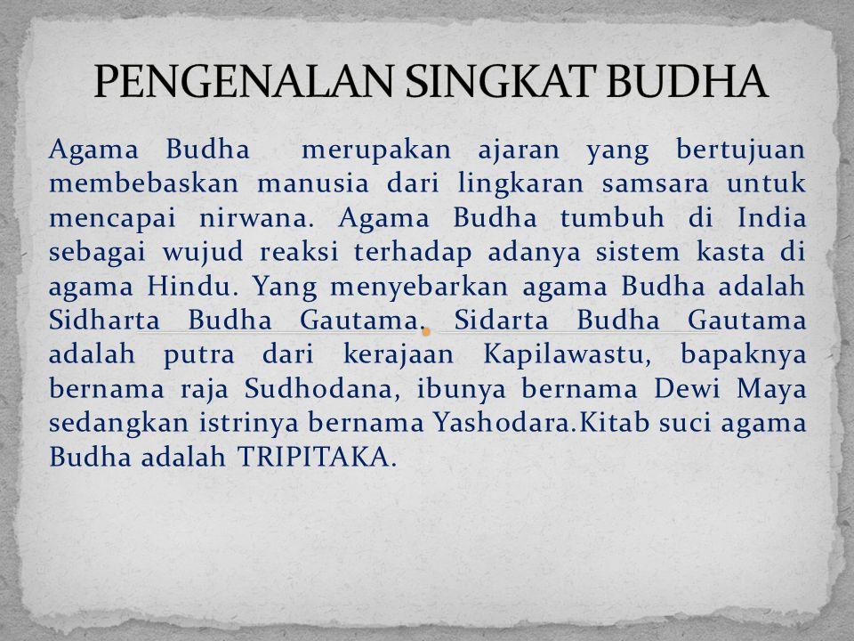 PENGENALAN SINGKAT BUDHA