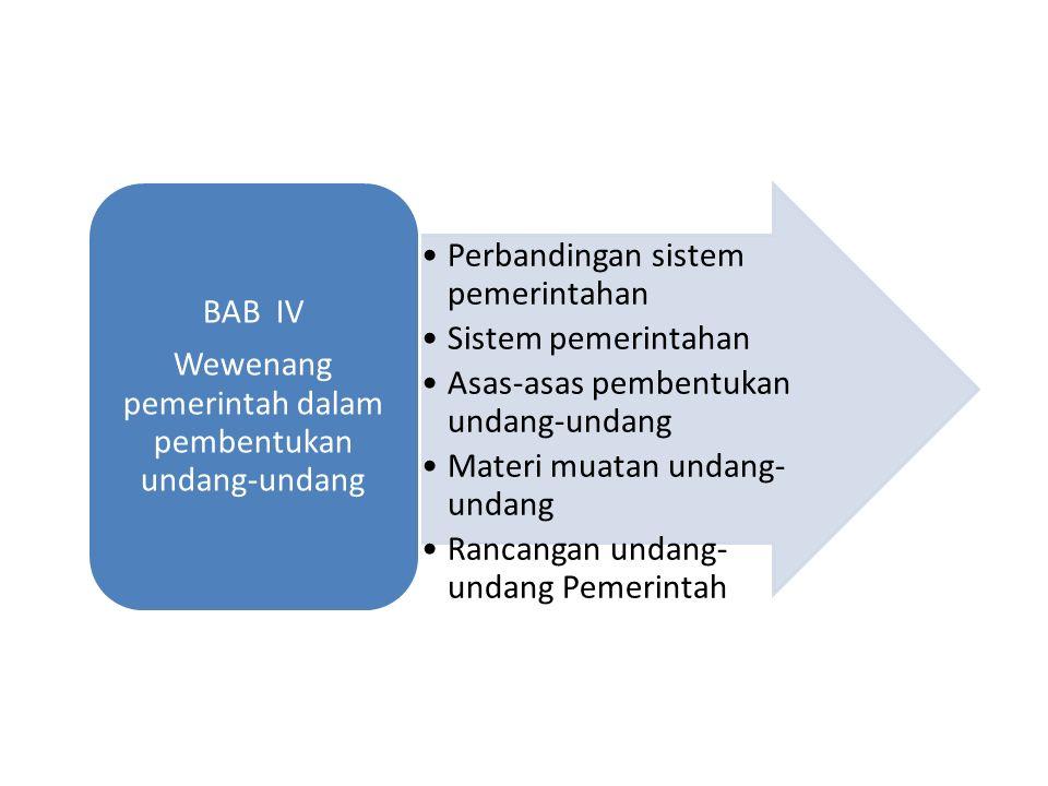 Wewenang pemerintah dalam pembentukan undang-undang