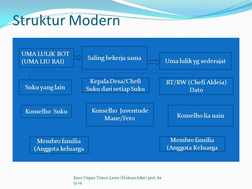 Struktur Modern UMA LULIK BOT Saling bekerja sama (UMA LIU RAI)