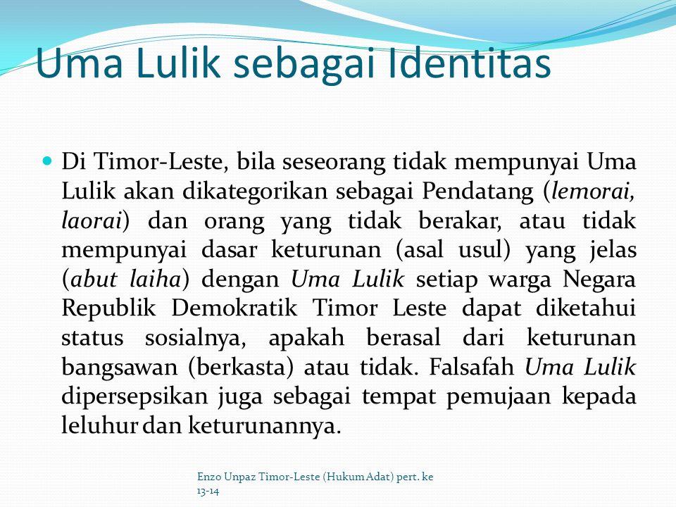 Uma Lulik sebagai Identitas
