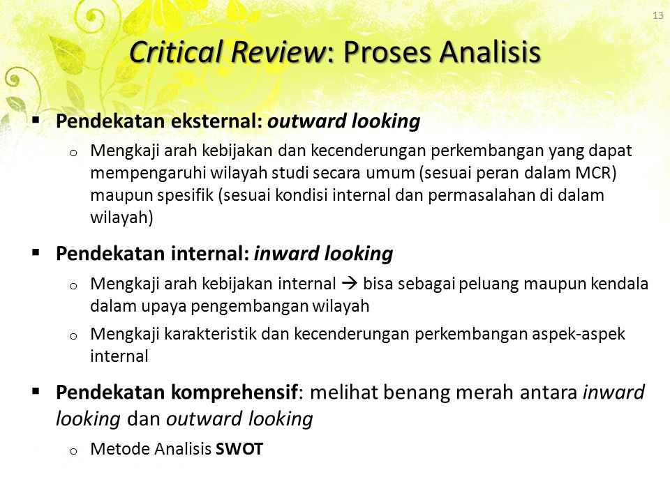 Critical Review: Proses Analisis
