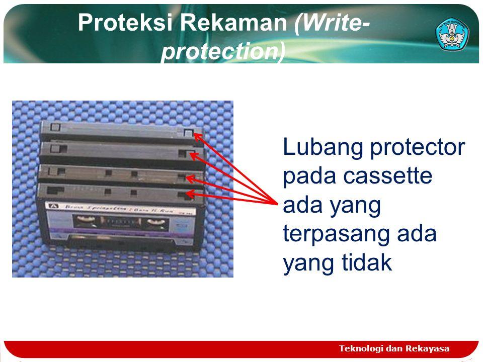Proteksi Rekaman (Write-protection)