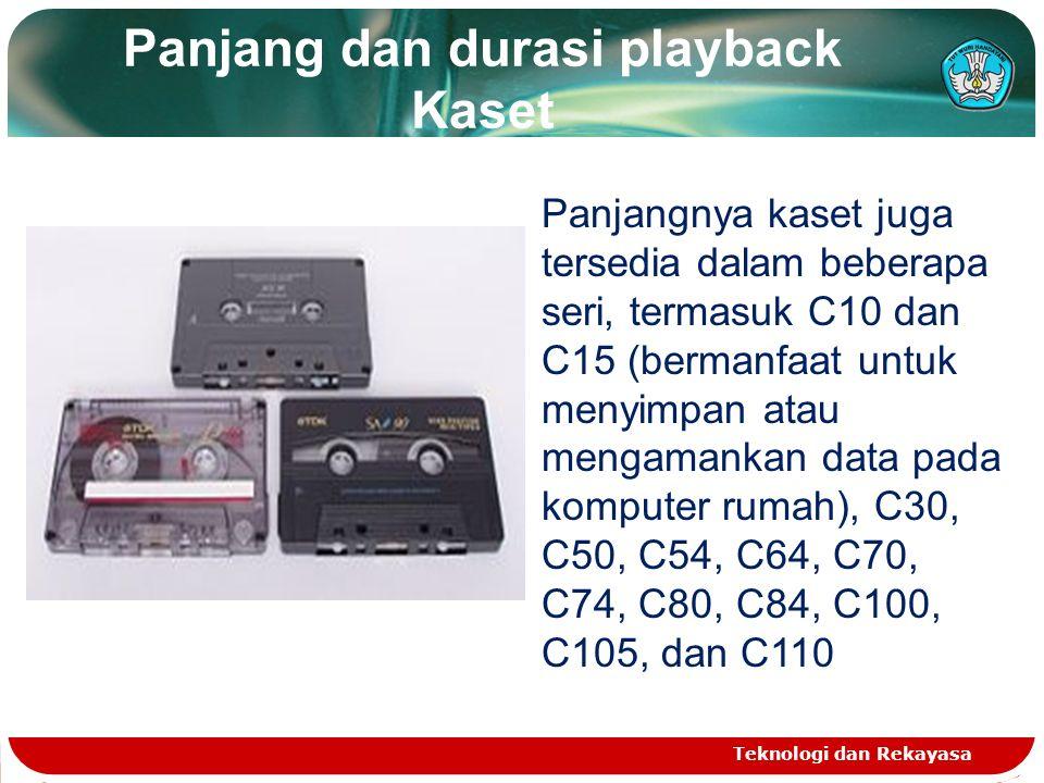 Panjang dan durasi playback Kaset