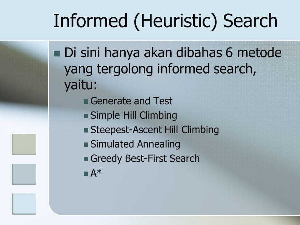 Informed (Heuristic) Search