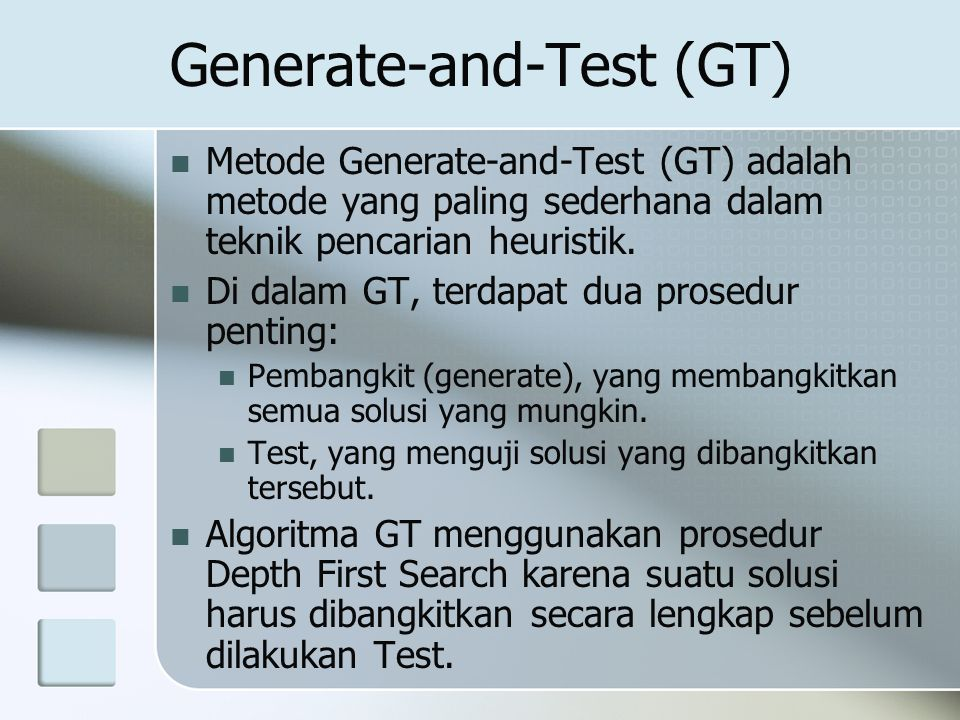 Generate-and-Test (GT)
