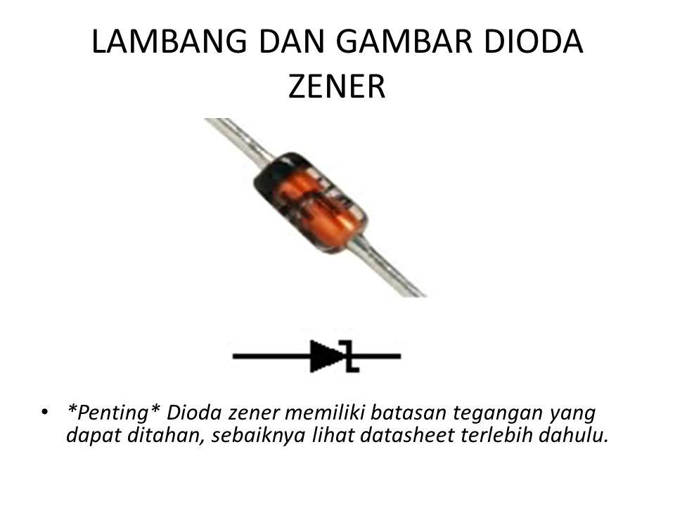 LAMBANG DAN GAMBAR DIODA ZENER