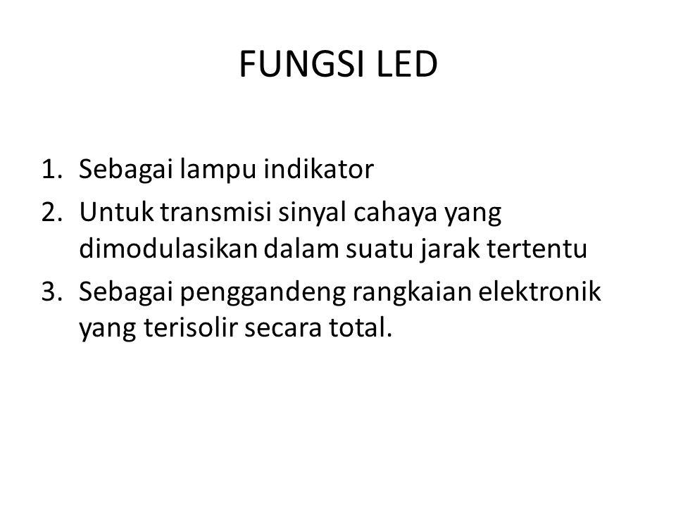 FUNGSI LED Sebagai lampu indikator