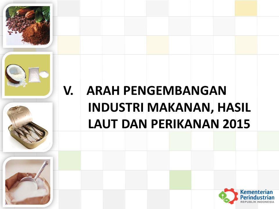 V. ARAH PENGEMBANGAN INDUSTRI MAKANAN, HASIL LAUT DAN PERIKANAN 2015
