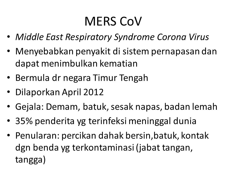 MERS CoV Middle East Respiratory Syndrome Corona Virus