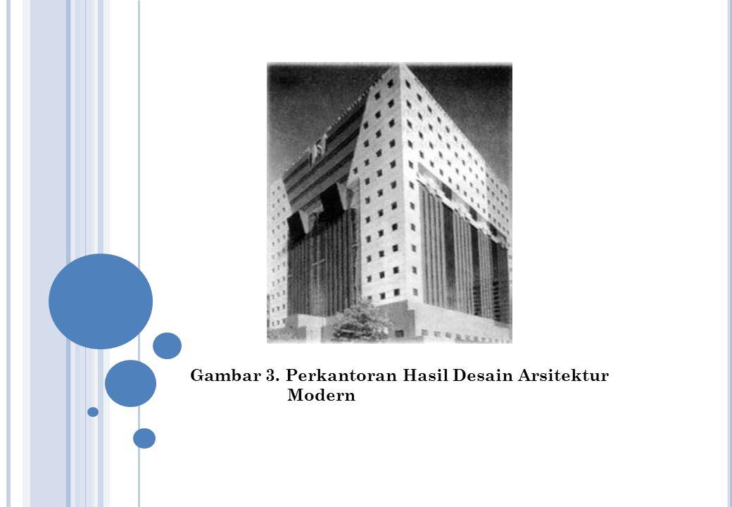 Gambar 3. Perkantoran Hasil Desain Arsitektur Modern