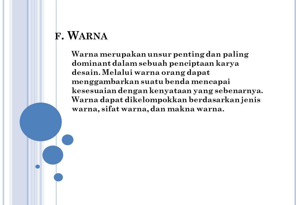 f. Warna