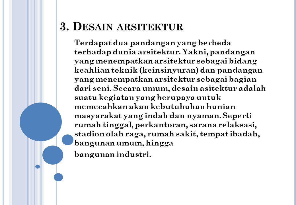3. Desain arsitektur