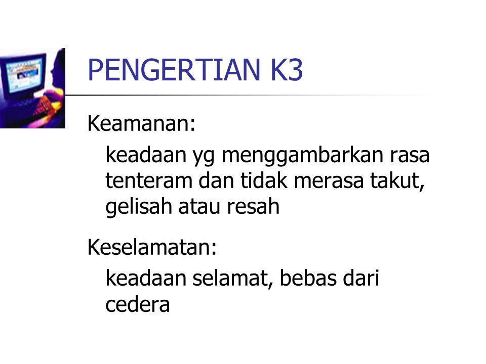 PENGERTIAN K3 Keamanan: