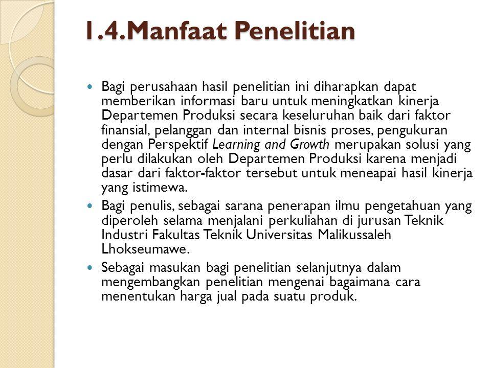 1.4.Manfaat Penelitian