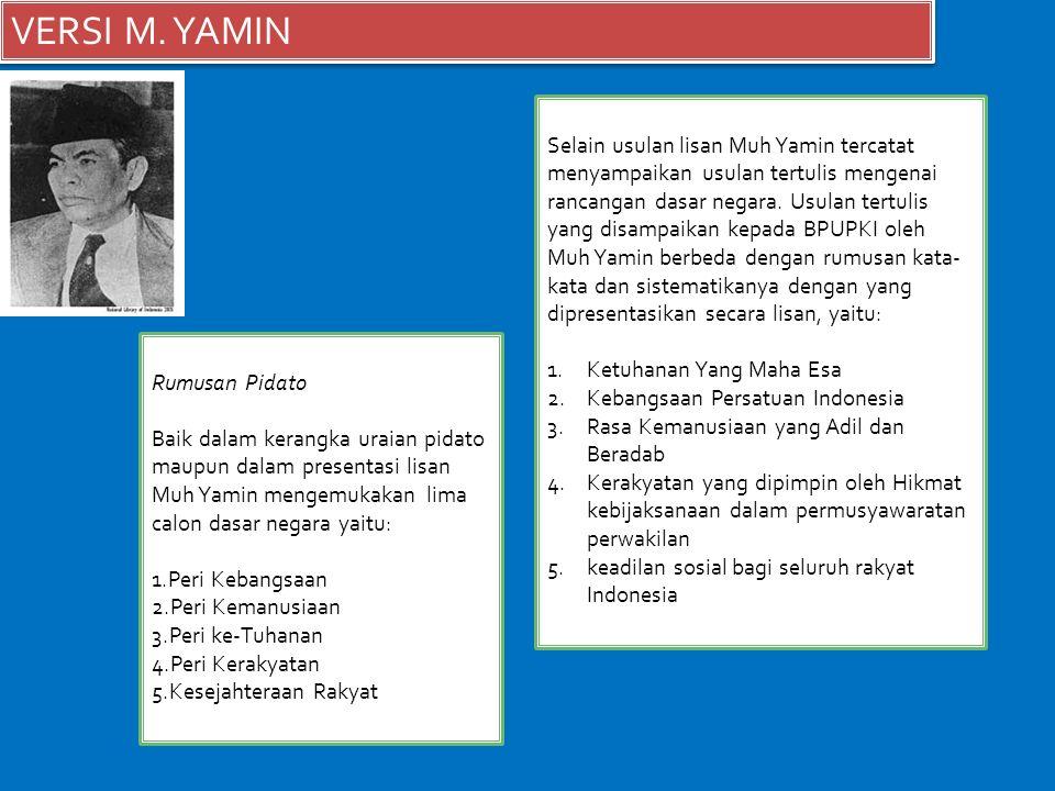 VERSI M. YAMIN