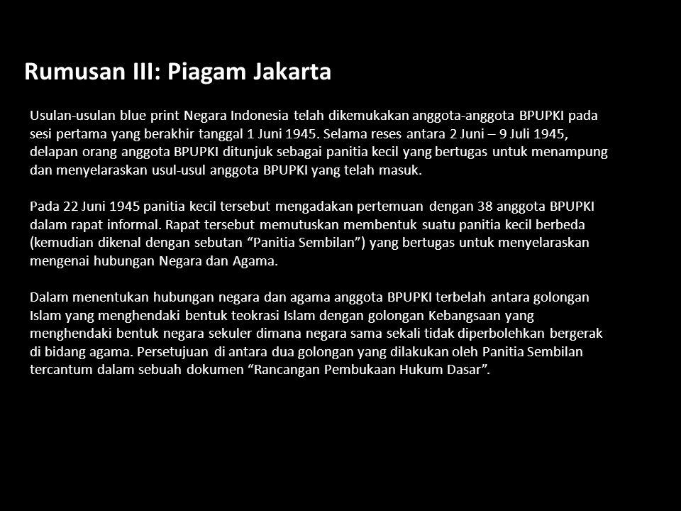 Rumusan III: Piagam Jakarta