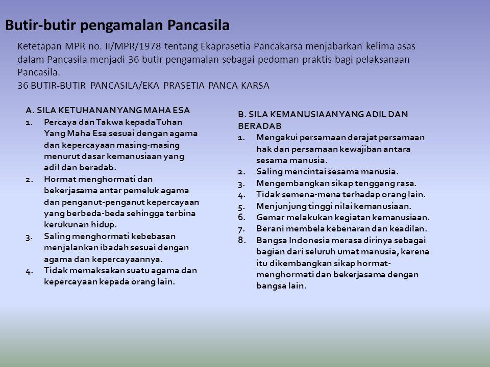 Butir-butir pengamalan Pancasila