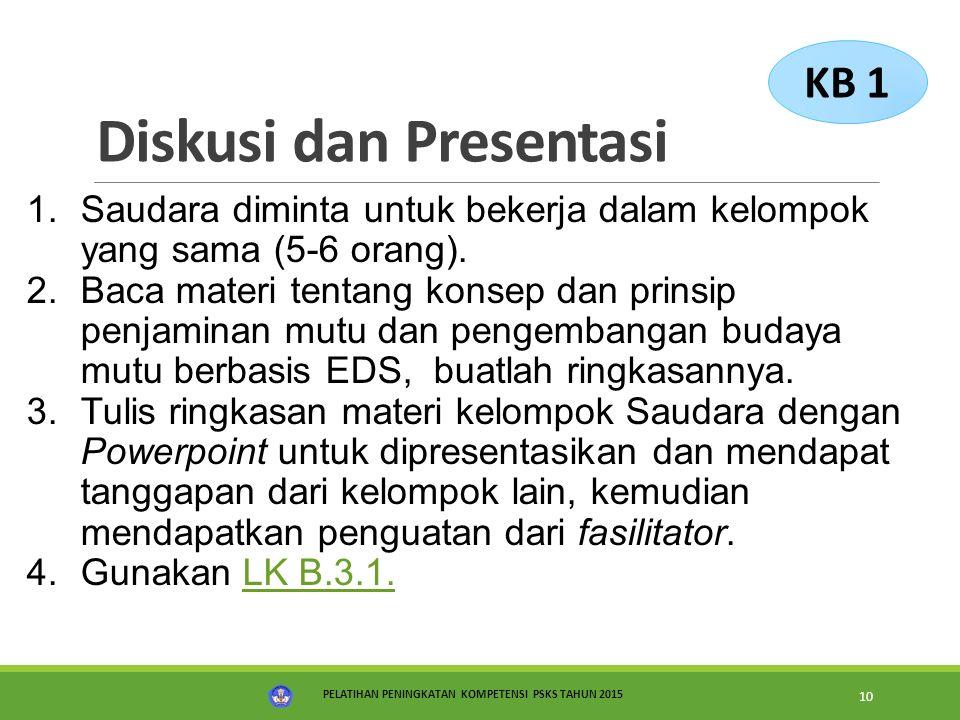 Diskusi dan Presentasi
