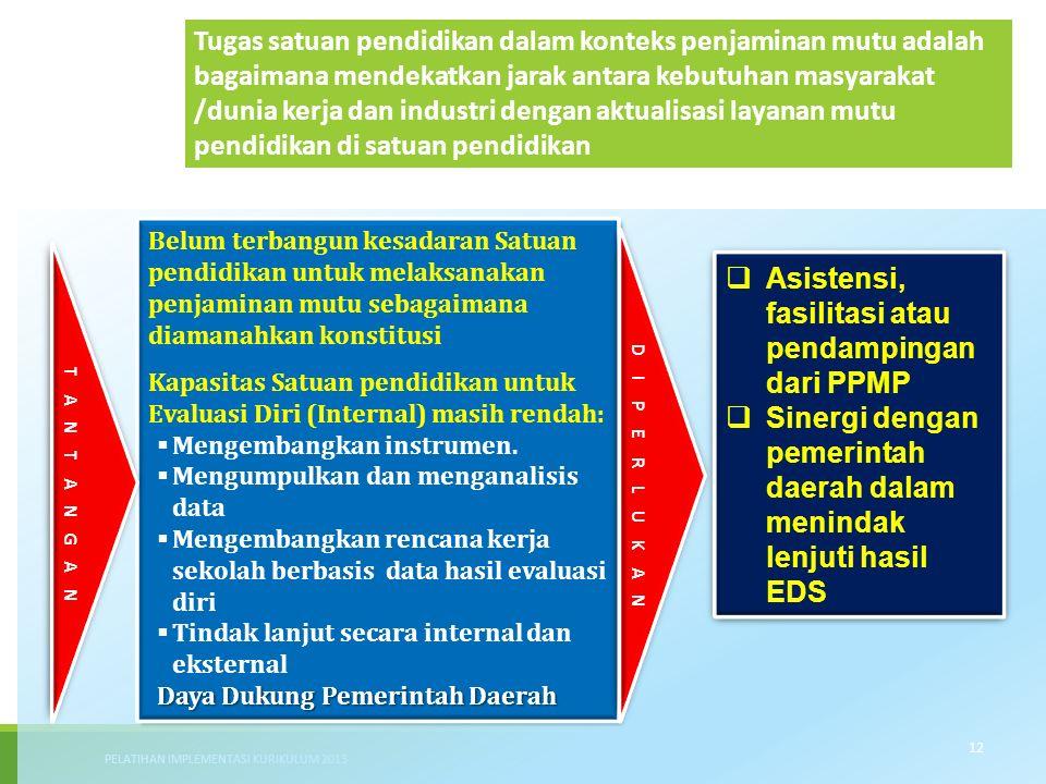 Asistensi, fasilitasi atau pendampingan dari PPMP