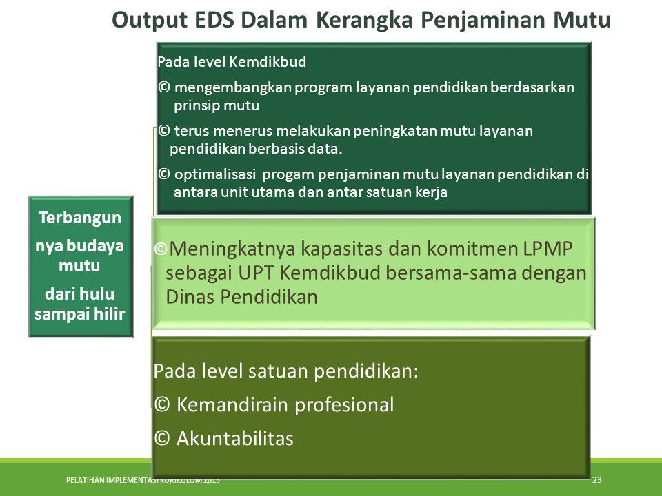 Output EDS Dalam Kerangka Penjaminan Mutu