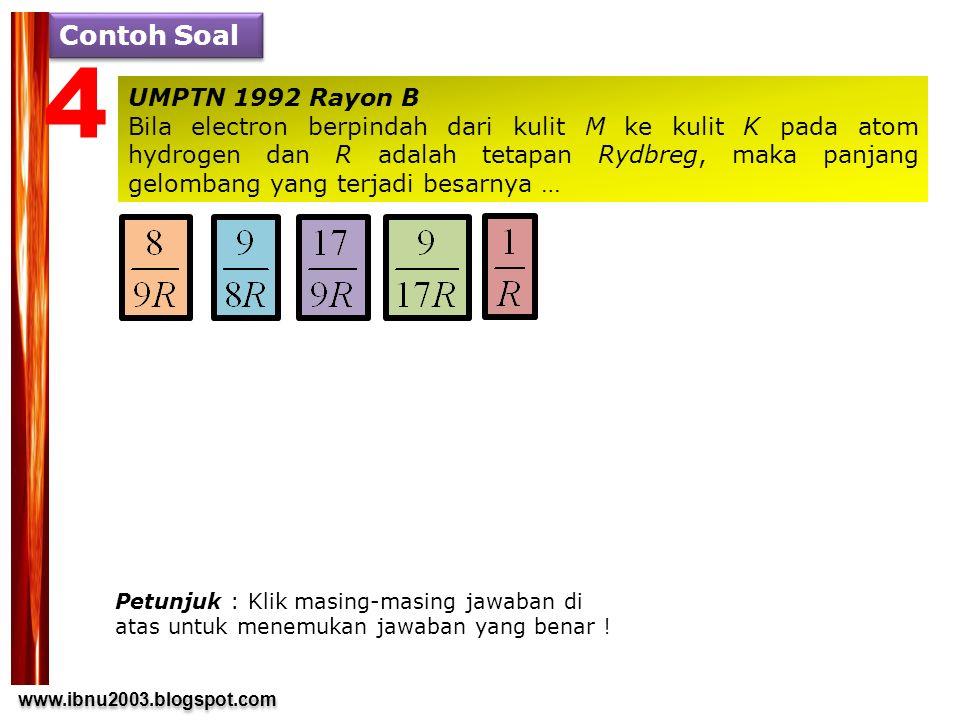 4 Contoh Soal UMPTN 1992 Rayon B