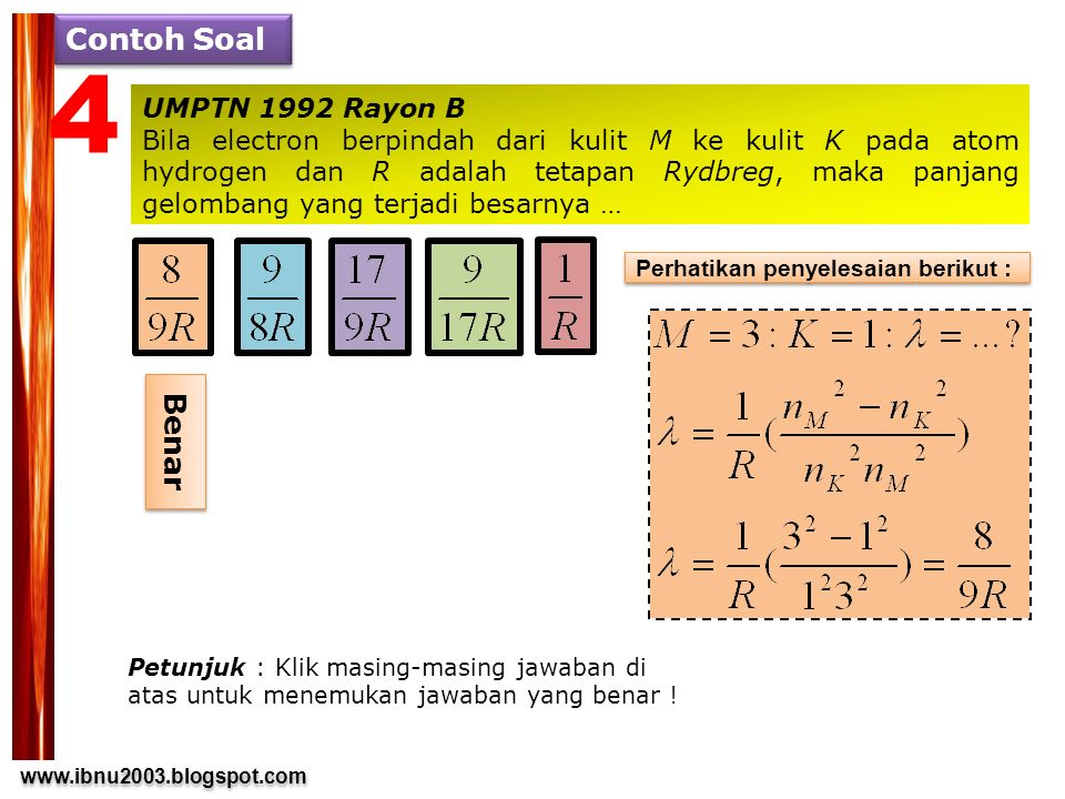 4 Contoh Soal Benar UMPTN 1992 Rayon B