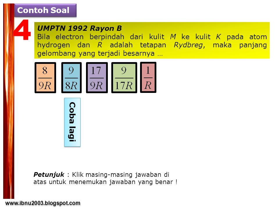 4 Contoh Soal Coba lagi UMPTN 1992 Rayon B
