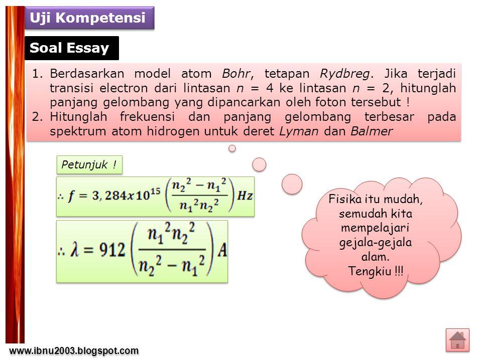 Fisika itu mudah, semudah kita mempelajari gejala-gejala alam.