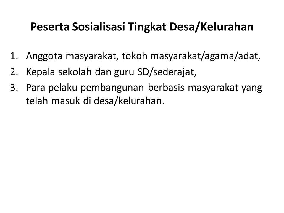 Peserta Sosialisasi Tingkat Desa/Kelurahan