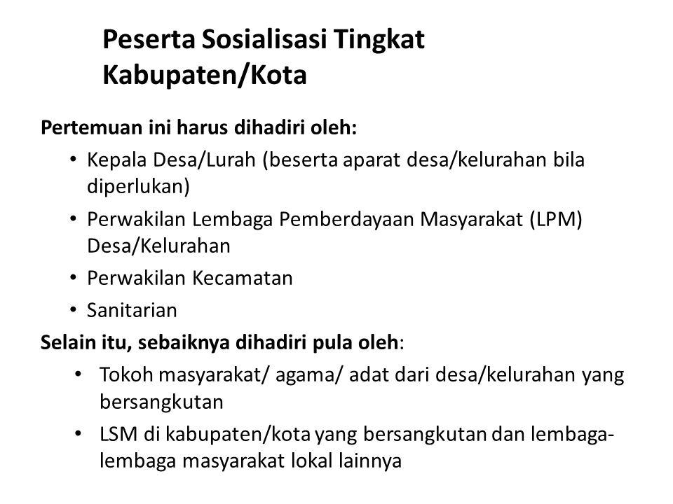 Peserta Sosialisasi Tingkat Kabupaten/Kota