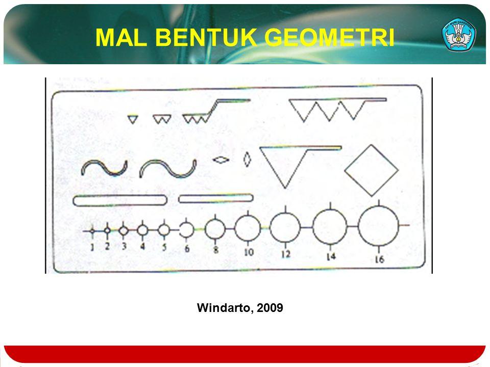 MAL BENTUK GEOMETRI Windarto, 2009