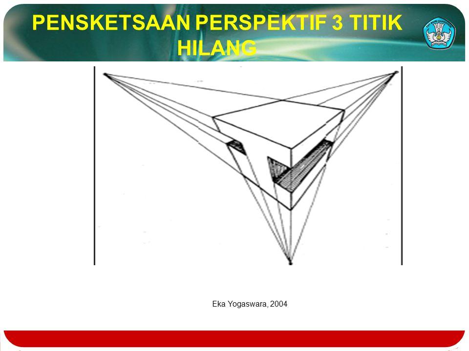 PENSKETSAAN PERSPEKTIF 3 TITIK HILANG
