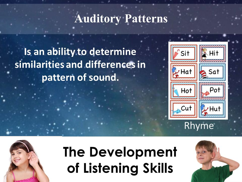 The Development of Listening Skills