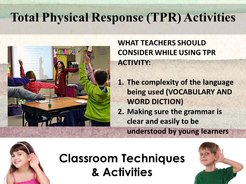 Total Physical Response (TPR) Activities