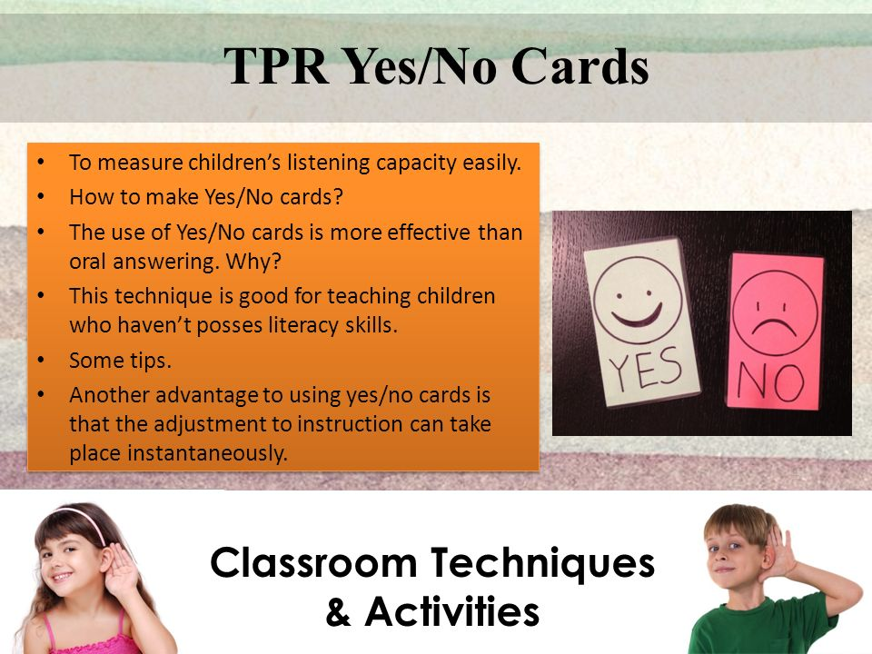 Classroom Techniques & Activities