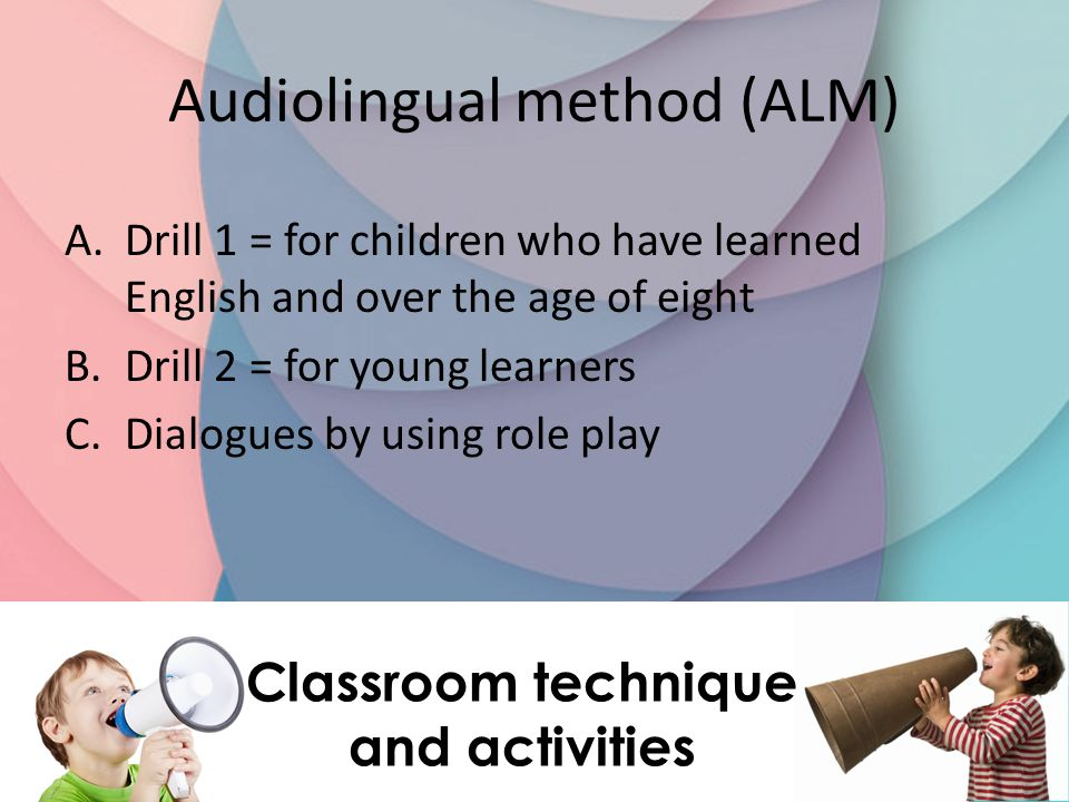 Classroom technique and activities