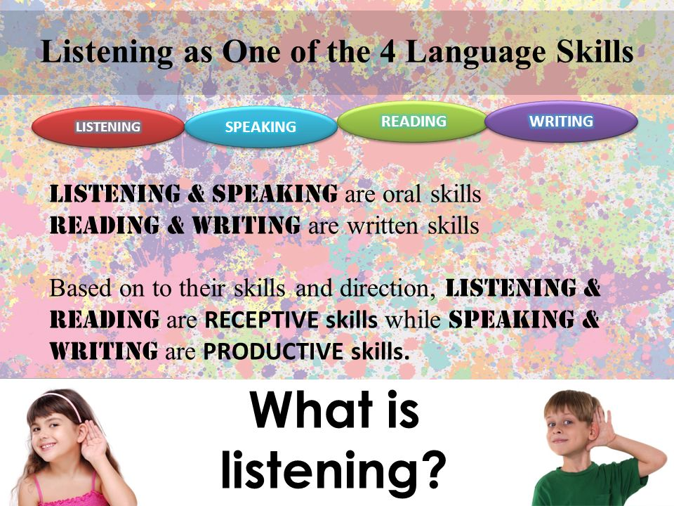 Listening as One of the 4 Language Skills