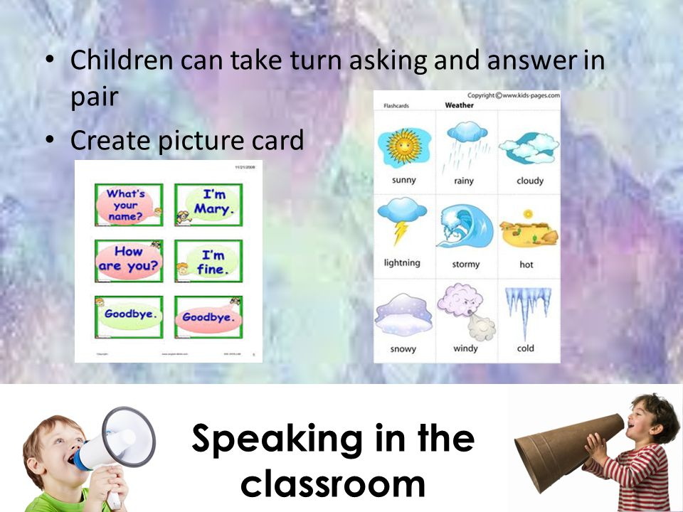 Speaking in the classroom