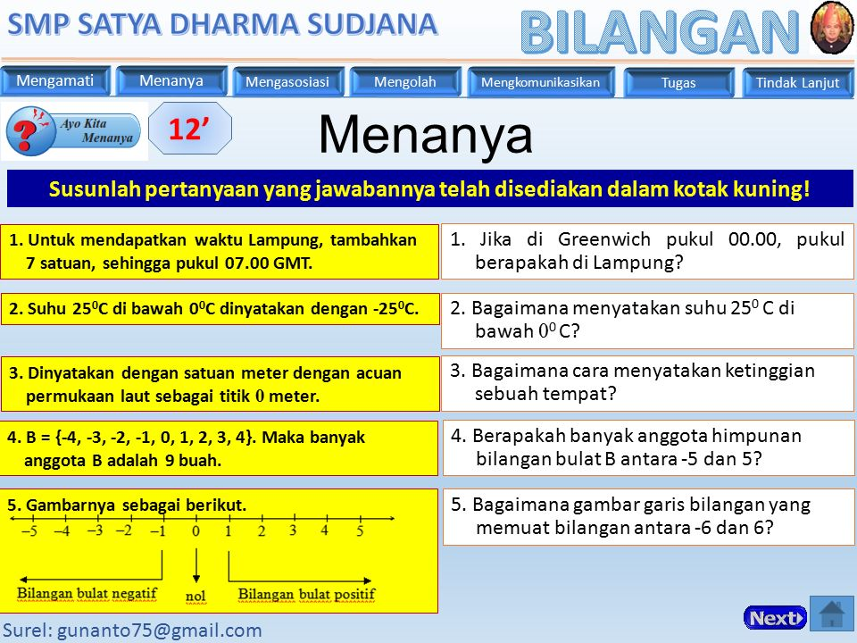 Menanya 12' Susunlah pertanyaan yang jawabannya telah disediakan dalam kotak kuning!