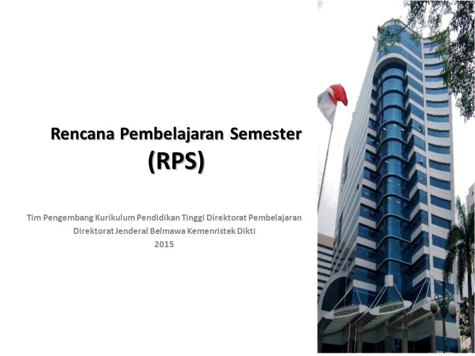 Rencana Pembelajaran Semester (RPS)