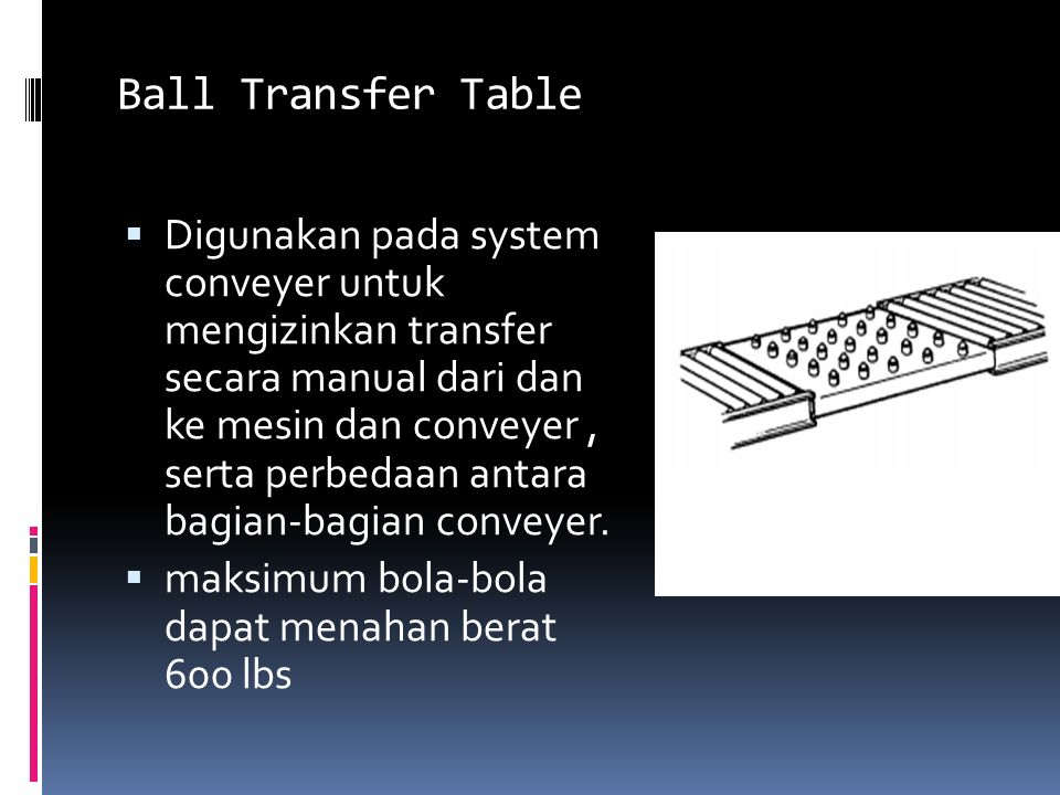 Ball Transfer Table
